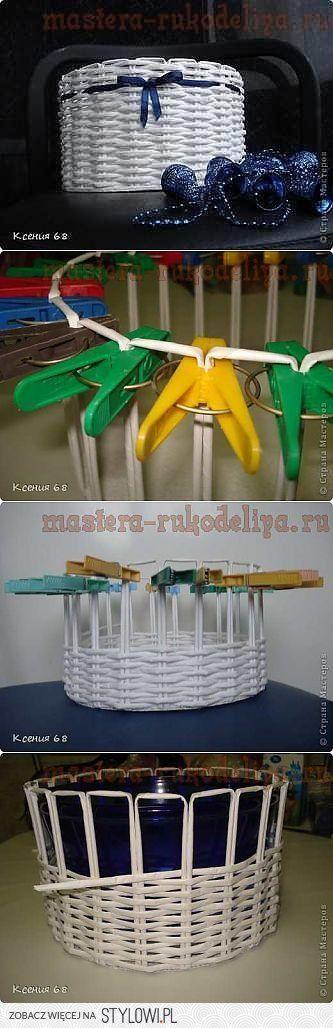 Мастер-класс по плетению из газет: Круглая корзинка | р… na Stylowi.pl