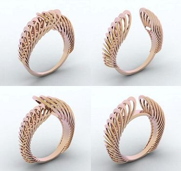 """Construct"" rings by Cécile Fricker from her ""Pony"" collection"