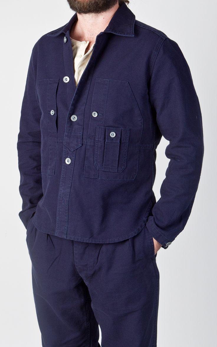 RAW Denim, Shoes and Accessories Online · CULTIZM Online-Shop - x Lybro Work Shirt Dark Navy Nigel Cabourn x Lybro Work Shirt Dark Navy NCOS-AW15-S-1