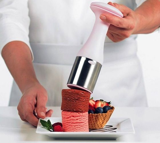 Cuisipro Ice Cream Scoop And Stack / Today's home chef demands tools that deliver consistent, superior performance with every use. http://thegadgetflow.com/portfolio/cuisipro-ice-cream-scoop-and-stack-15/