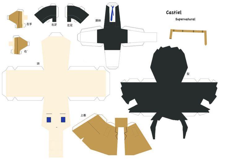 Castiel Papercraft - SPN by Yolapeoples.deviantart.com on @deviantART