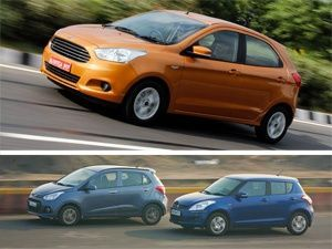 2015 Ford Figo vs Hyundai Grand i10 vs Maruti Suzuki Swift: Spec Comparison