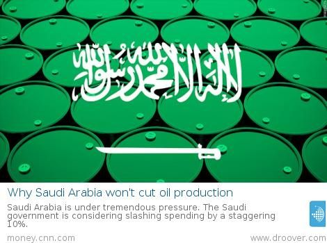 #oil #petroleum Why Saudi Arabia won't cut oil production