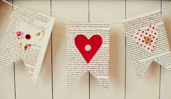 Tutorial: Ghirlandă din hârtie din filele unei cărți vechi