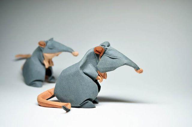 Incríveis animais feitos de origami por Hoang Tien Quyết
