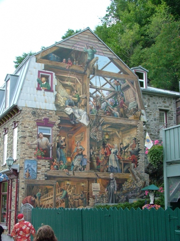 Trompe l'oeil Mural ... Finally a good idea of what to do with the ugly barn style house! This is perfect!!!