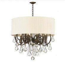 Crystorama Lighting 572 Group 5155 Brentwood 6 Light Drum Chandelier In  English Bronze With Hand Polished Or Swarovski Crystals 1188