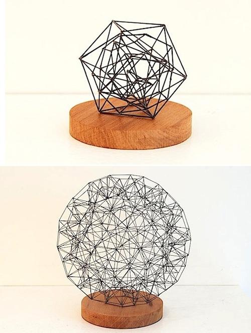 Pencil lead sculptures by Peter Trevelyan.
