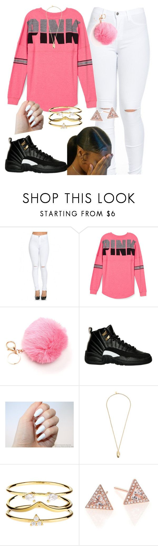 """Untitled #301"" by kitty900 ❤ liked on Polyvore featuring Victoria's Secret PINK, Pembe Club, Accessorize and EF Collection"