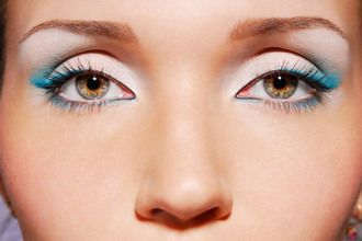 Add a touch of winter frost to your look. #blue #eye #makeup