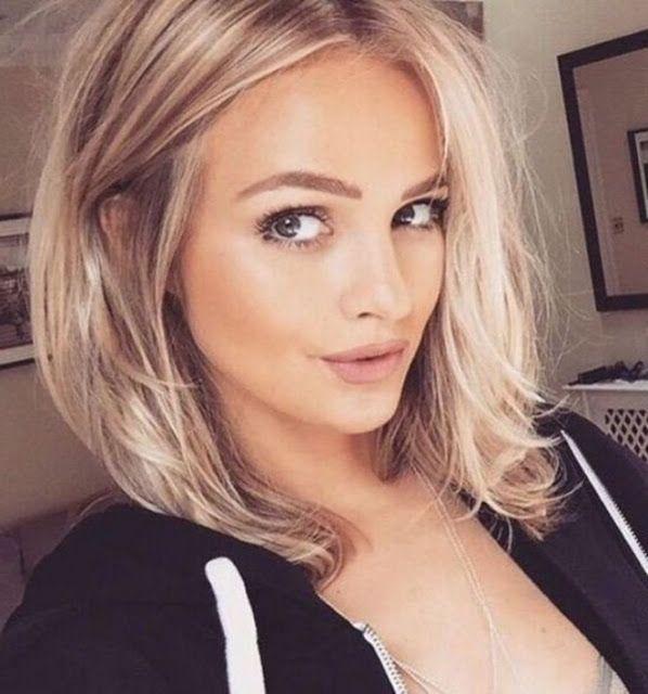 Frisuren Blond Halblang Hair Styles Medium Hair Styles Oval Face Hairstyles