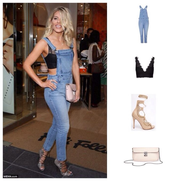 Check out Mollie King at the recent Folli Follie store launch. We love her Rebecca Minkoff dungarees and her Malone Souliers shoes. On a budget? Get her look for less with Topshop and Windsor Smith. Visit the link to shop the look.