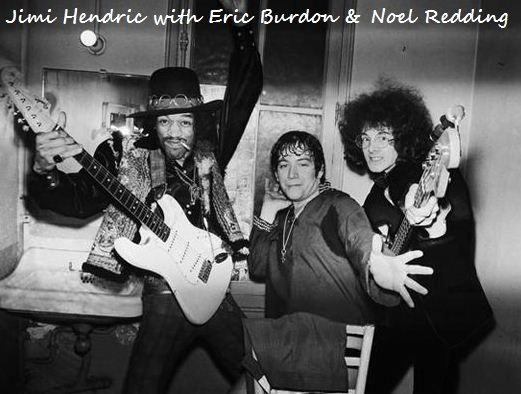JIMI HENDRIX WITH ERIC BURDON & NOEL REDDING