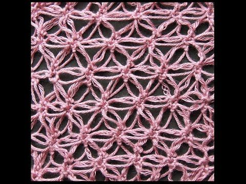 Crochet : Punto Mariposa Recto. Parte 1 de 2 - YouTube