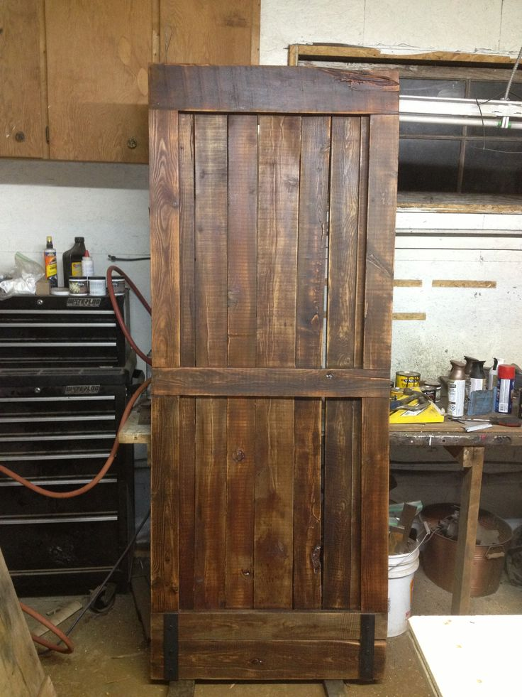 Rustic interior barn door by goatgear made in armstrong b for Barn door pictures