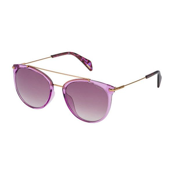 Police SPL405 GOLDENEYE 2 49BX Sunglasses ($145) ❤ liked on Polyvore featuring accessories, eyewear, sunglasses, opaque pink, police sunglasses, pink sunglasses, pink glasses, police glasses and police eyewear