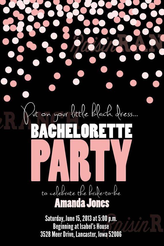 Bachelorette Party Invitation  Polka Dots  by RaisinRanch on Etsy, $10.00