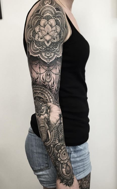 25 best ideas about mandala sleeve on pinterest mandala tattoo sleeve feminine sleeve. Black Bedroom Furniture Sets. Home Design Ideas