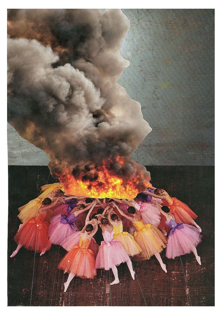 """thecollectivecollage:  """"Setting the Flame"""" by Paperworker"""