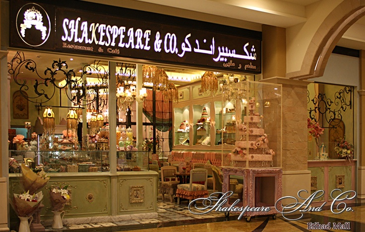 Shakespeare and Co. Cafe Restaurant, Patisserie, Catering and Floral Creations. Abu Dhabi, United Arab Emirates. I've had tea there. I felt like having a tea party with Alice and the Mad Hatter.