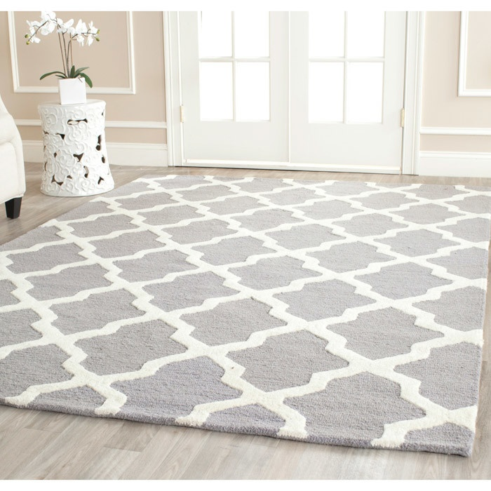 Dining Room Rug Safavieh Handmade Moroccan Cambridge Silver/ Ivory Wool Rug  X   Overstock™ Shopping   Top Rated Safavieh Oversized Rugs