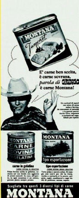 """1966 - Montana - carne in scatola""""Il cibo immaginario"""""""