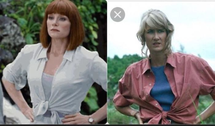 """In Jurassic World When Bryce Dallas Howard Rolls Up Her Sleeves And Ties Her Shirt At The Bottom To Say """"I'm R… 