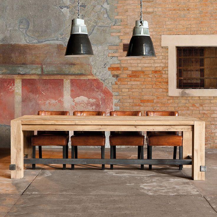 farmhouse wood u0026 metal dining table