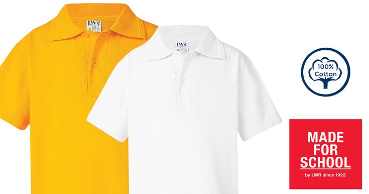 Our soft Brennan Cotton Polo will keep everyone cool and itch free at school and in the playground.