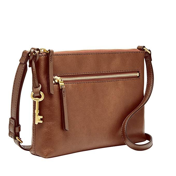 8cbd49f45 Fossil Fiona EW Crossbody Brown