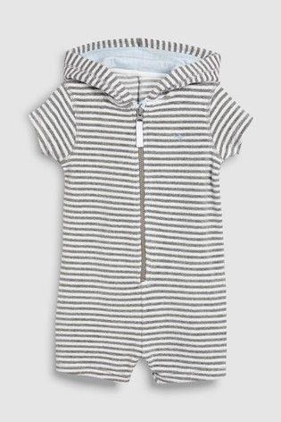 a2fd505c3 Grey Stripe Towelling All-In-One (3mths-8yrs)