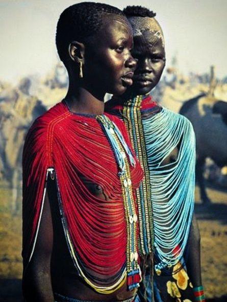 Members of Sudan's Dinka Tribe, #Africa, #Colorful, #Costume…
