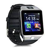 Yuntab SW01Watch Bluetooth Smart Watch Fitness Handgelenk-Verpackungs-Uhr-Telefon mit Kamera-Touch Screen für iPhone Samsung HTC LG Android Phone Smartphone mit SIM-Karte (Schwarz)