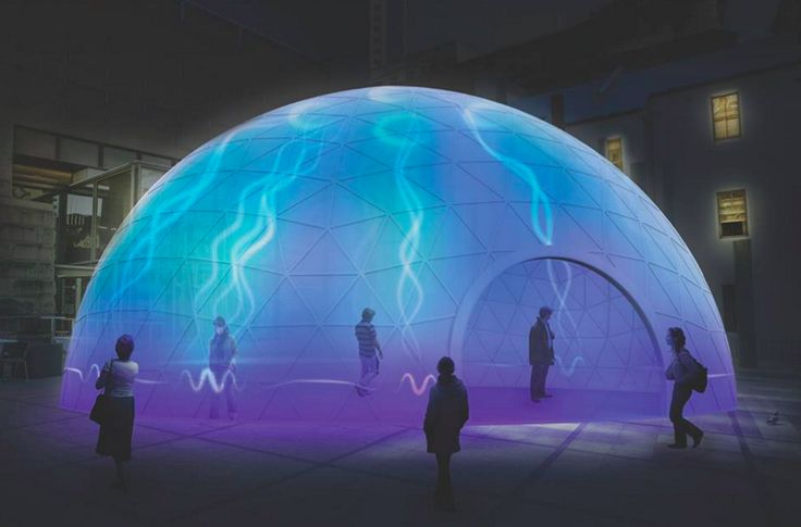 Photo: Looking for a unique experience? At the Museum of Sydney in Circular Quay, visitors will be able to enter the luminous Electric Jellyfish. The immersive installation allows participants to 'pluck', 'bounce' or 'wobble' an electric light ring that generates bursts of light up to the centre of the dome. #VividSydney