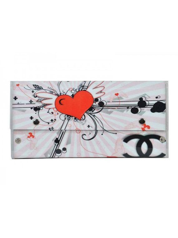 Handmade heart clutch bag by jtfashionsoul on Etsy
