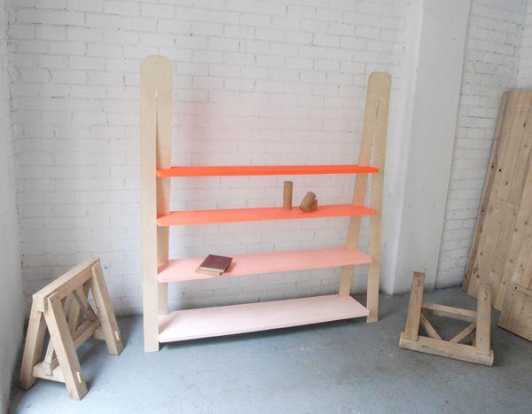Gradient bookshelf on Furniture Served