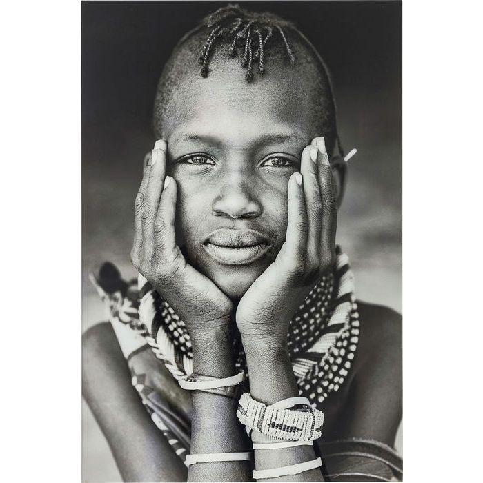 Πίνακας Glass Kenyan Child
