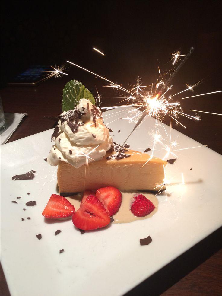 White chocolate cheesecake from Milestones