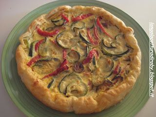 Torta salata zucchine/peperoni | Angolo cottura di Roby