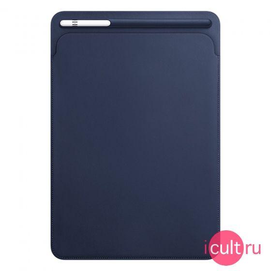 """Кожаный чехол Apple Leather Sleeve Midnight Blue для iPad Pro 10.5"""" темно-синий MPU22. Чехлы для iPad Pro 10.5"""". Интернет-магазин iCult.ru"""
