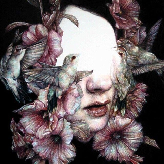 Color pencil work by Marco Mazzoni who was first featured on the cover of Hi-Fructose Vol.20. @marcomazzoniart