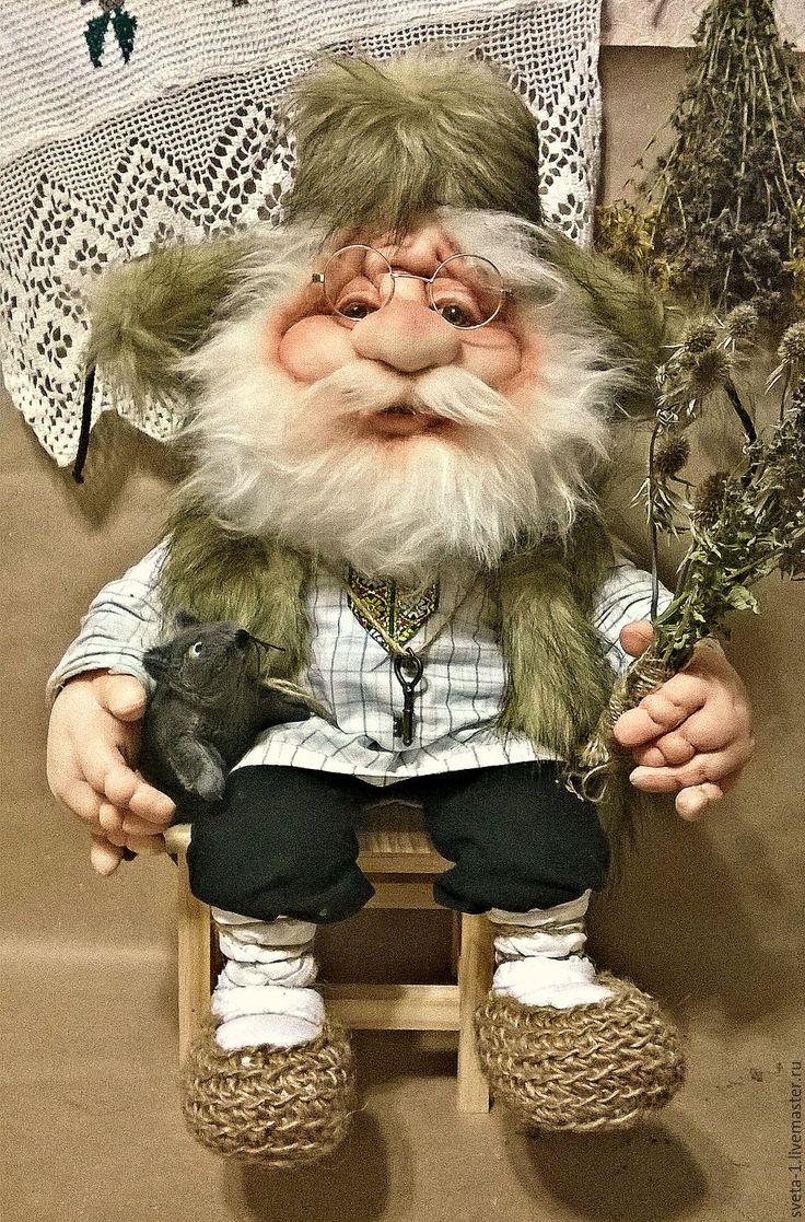 Купить домовой - коричневый, домовой, капроновая кукла, обереги в подарок…
