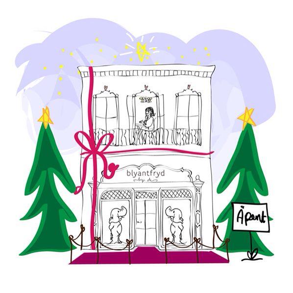 Blyantfryd in Via Galleria - illustration by Pia Haugseth