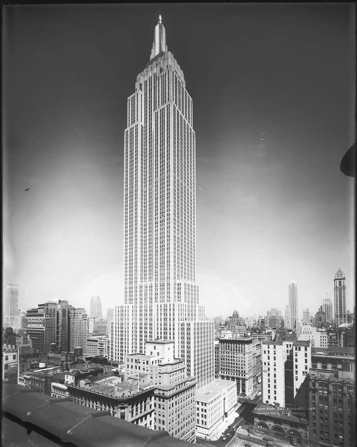 """""""On this day in 1931 construction was completed on the Empire State Building. It reigned as the world's tallest building for nearly 40 years, until the completion of the World Trade Center's North Tower in 1970. It's an iconic piece of NYC's skyline, featuring in classic films like King Kong, books like James and the Giant Peach, and on most of the postcards you can buy in the city. Here are some#fun facts about our beloved building. 1. The lightning rod near the top of the building is.."""