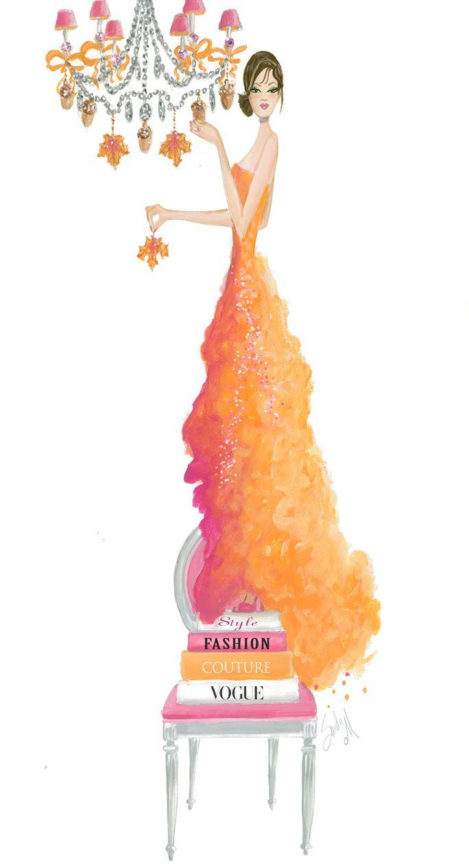 ooh la frou frou...Illustrator SANDY M (Sandra Shelton Markwalder)