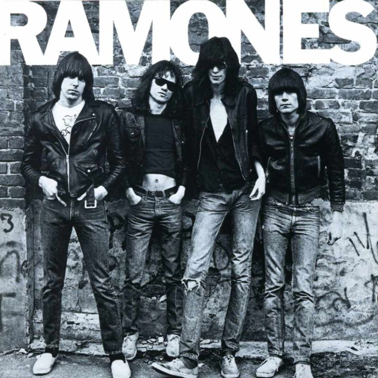 The Ramones hard driving riffs one of the forerunners of Punk.