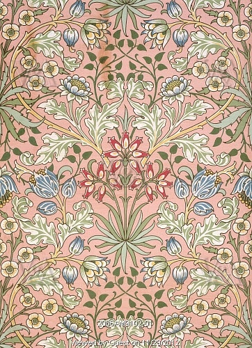 Hyacinth wallpaper, by William Morris (1834-96). England, 19th century.