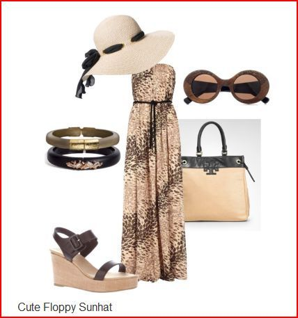 This would make a great travel outfit for apple shaped women - good for cruises or vacations in warm climates... elegant and cute - see it at: boomerina.polyvore.com