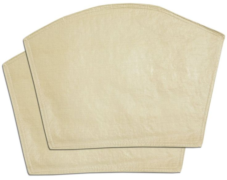 """Unique and Custom {13' x 18' Inch} Set Pack of 4 """"Non-Slip Grip Texture"""" Large Reversible Table Placemats Made of Flexible Vinyl w/ Cream Sand Plain Stitched Durable Heavy Duty Design [Beige Color] -- Special  product just for you. See it now! : Food Service Equipment Supplies"""