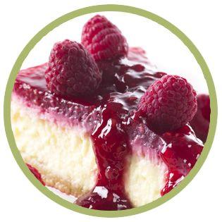 Cheesecake alla salsa di lamponi